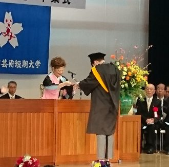 山野美容芸術短期大学 第25回 学位記授与・卒業式